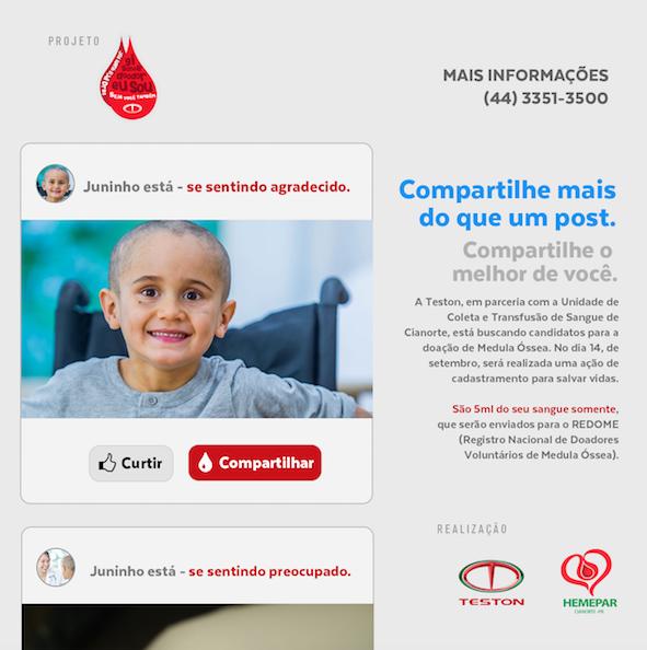 Campanha de Doação de Medula Óssea busca possíveis doadores em Cianorte